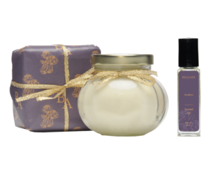 awaken scented body oil, body parfait and essential oil soap