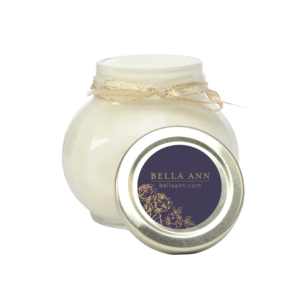 Large jar of body parfait made with essential oils and butter