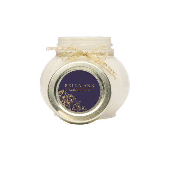 Jar of body parfait with essential oils Body butter