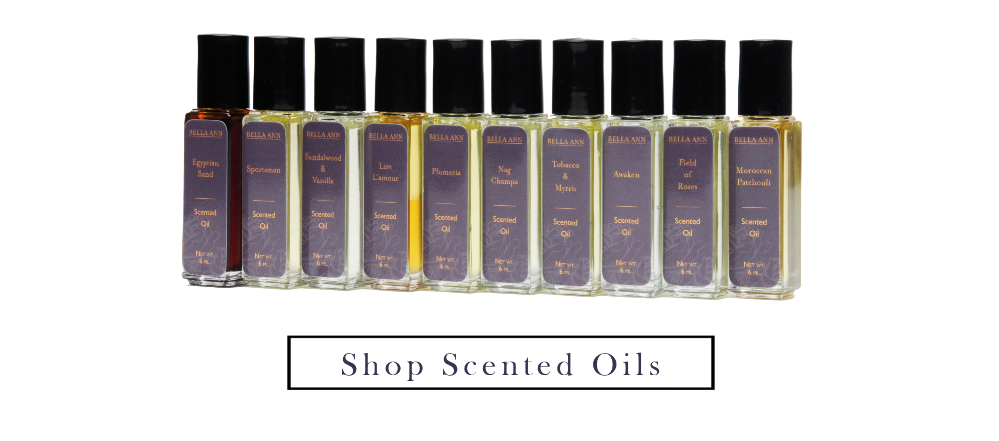 Essential Oil Body oil roll on jars